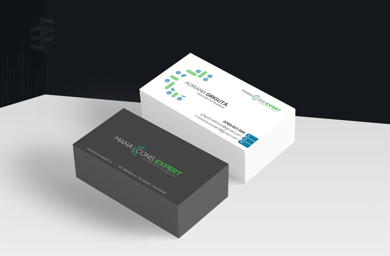 Work Example of Business Cards Design  for Manacons Expert