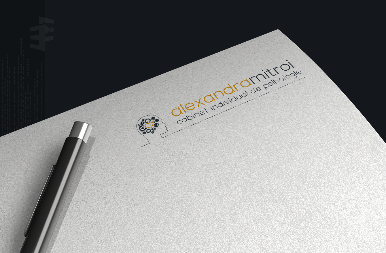 Work Example of Logo and Branding Design for Cabinet Individual de Psihologie Alexandra Mitroii