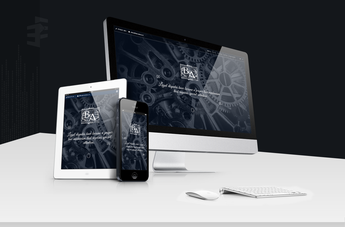 Work Example of Design and Development Website for Lawyer Băiculescu & Asociații