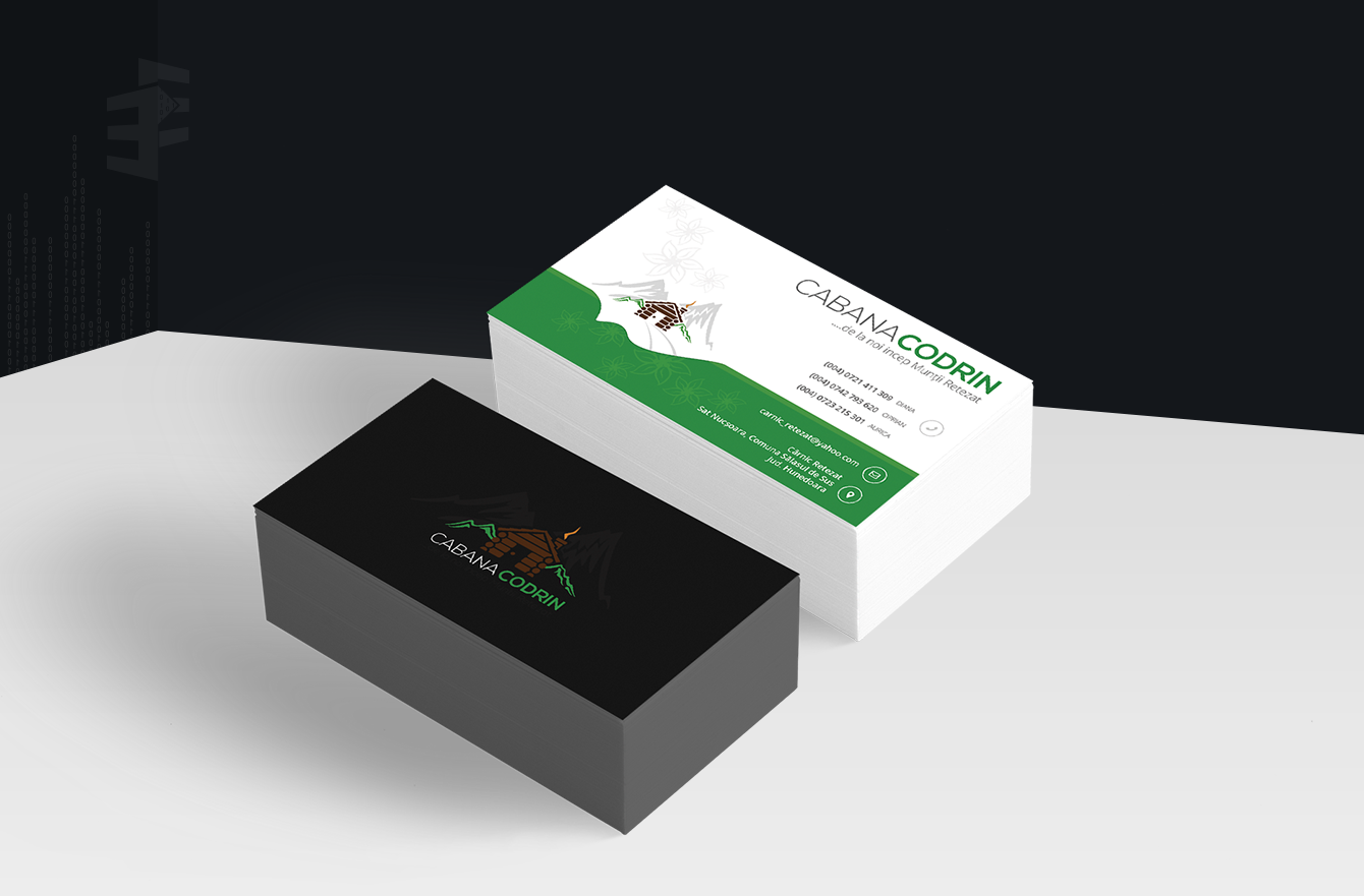 Work Example of Business Cards Design  for Cabana Codrin