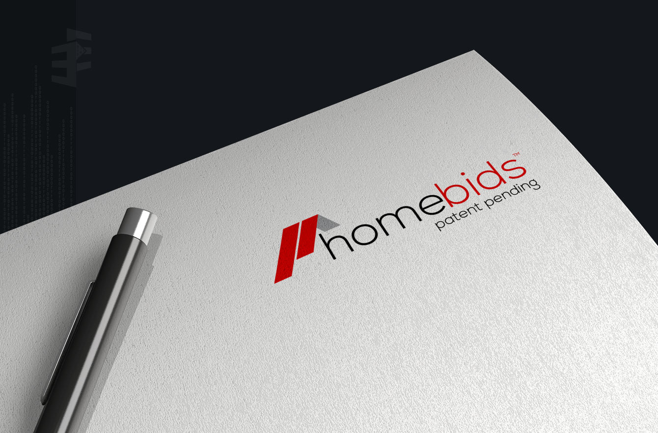 Work Example of Logo and Branding Design  for Homebids Real Estate Solutions