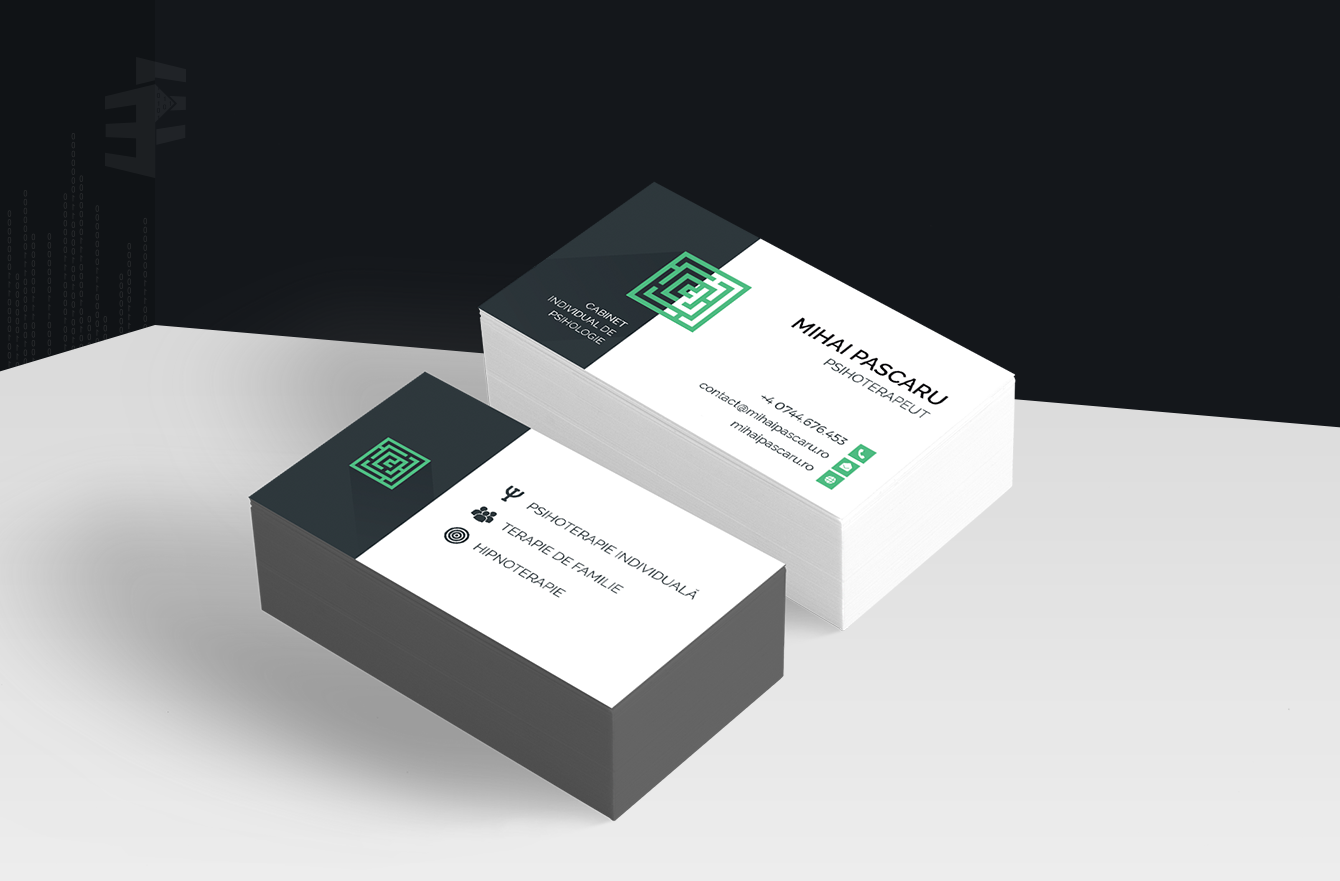 Work Example of Business Cards Design for Cabinet Individual de Psihologie Mihai Pascaru