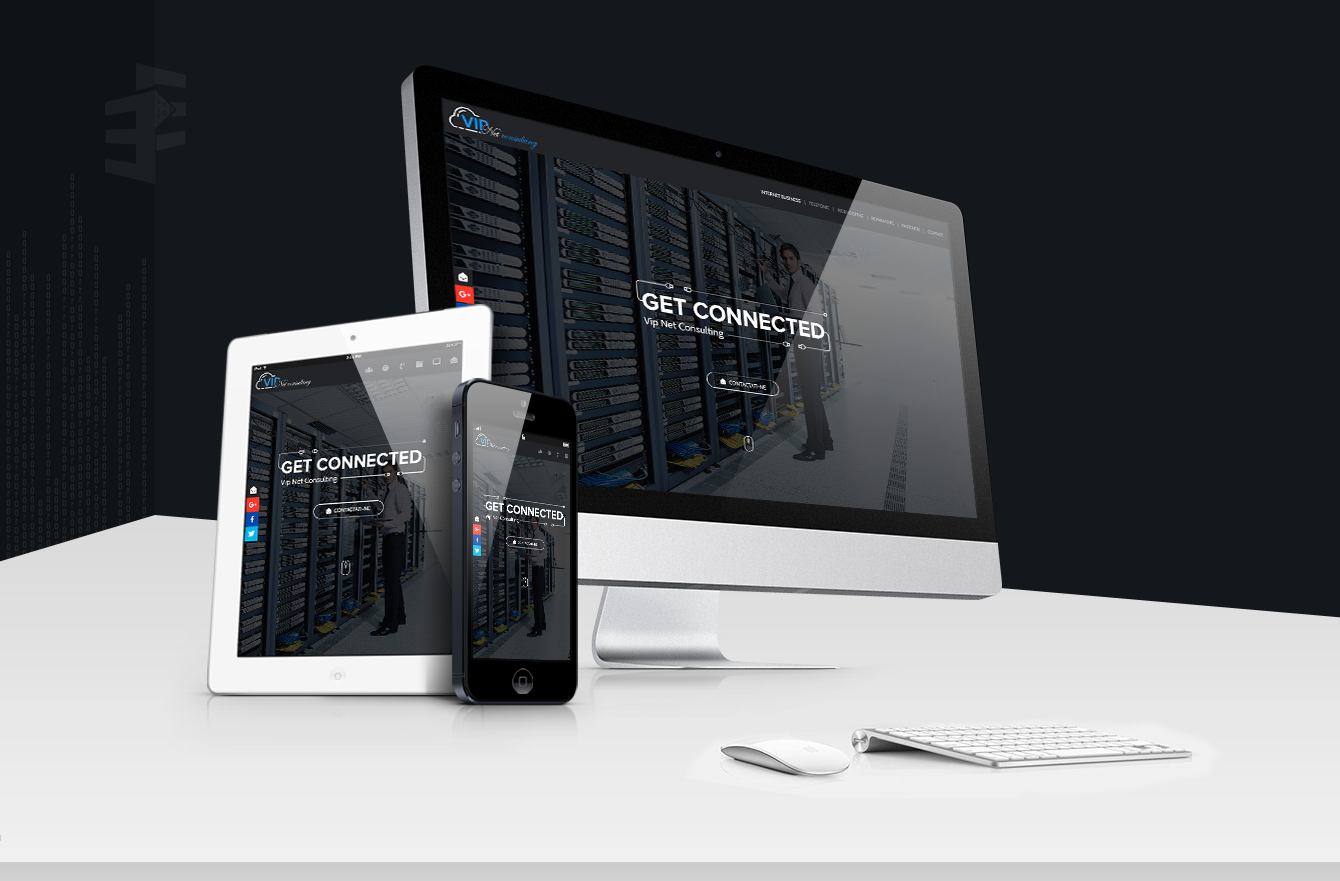 Work Example of Design and Development Website for Vip Net Consulting