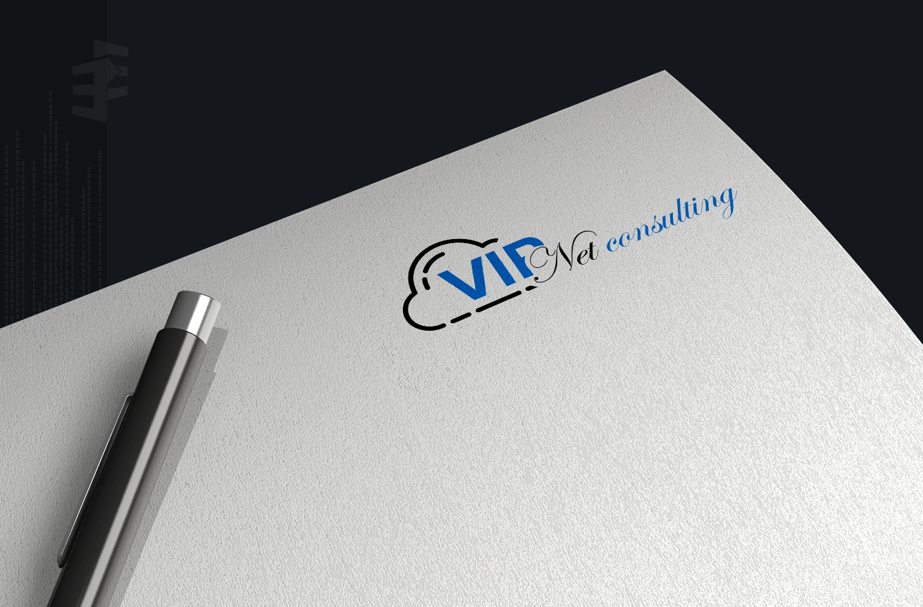 Work Example of Logo and Branding Design VipNet Consulting